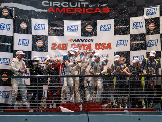 24h Series AVIA Sorg Rennsport auf dem Podest in Circuit of the America